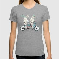 polar bears lets tandem Womens Fitted Tee Tri-Grey SMALL
