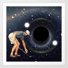 Black Hole in One Art Print