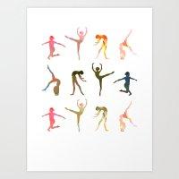 Figures Art Print