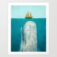 dream Art Prints featuring The Whale  by Terry Fan