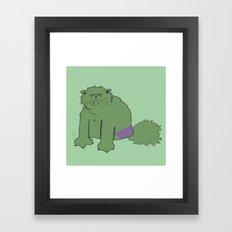 The Incatable Hulk Framed Art Print