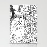 Line and Words - 2 Stationery Cards