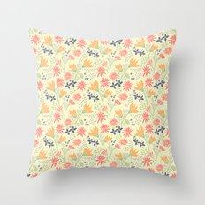 Autumn Floral Pattern Throw Pillow