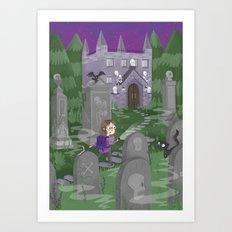 Exploring the Graveyard Art Print