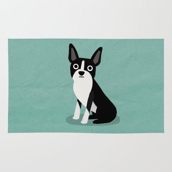Boston Terrier - Cute Dog Series Area & Throw Rug