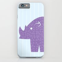 iPhone & iPod Case featuring Fun at the Zoo: Rhino by rollerpimp