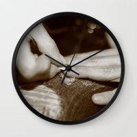 Nails Wall Clock