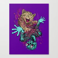 Zombie Nomz Canvas Print