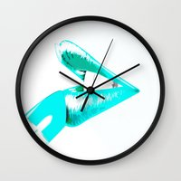 CYAN LIPS Wall Clock