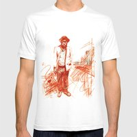 Where Do I Stand Mens Fitted Tee White SMALL