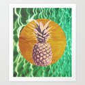 Gold / Pineapple Art Print