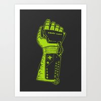 It's So Bad - Charcoal & Green Art Print