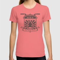 Juice Badge Womens Fitted Tee Pomegranate SMALL