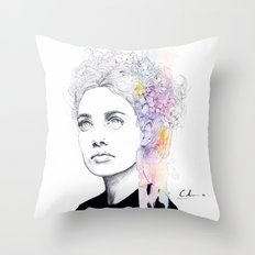 soft springtime Throw Pillow