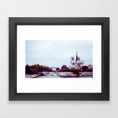 NOTRE DAME DE PARIS SUR LA SEINE. Framed Art Print