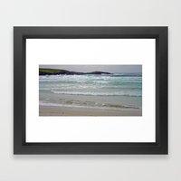 Beach and Waves Framed Art Print