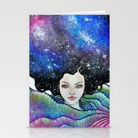 cosmic petals Stationery Cards