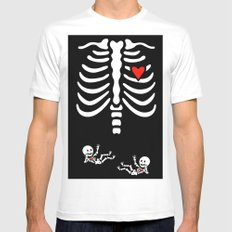 Skeleton Twins White Mens Fitted Tee SMALL