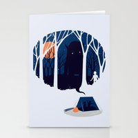 Scary Story Stationery Cards