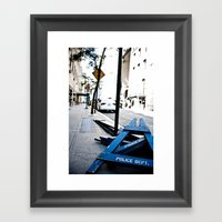 Police Dept. Framed Art Print