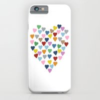 iPhone & iPod Case featuring Hearts Heart by Project M
