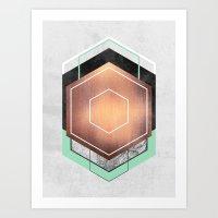 Hexagon Abstract #1 Art Print