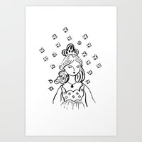 Queen Of Clubs Art Print