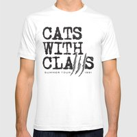 Cats With Claws Concert … Mens Fitted Tee White SMALL