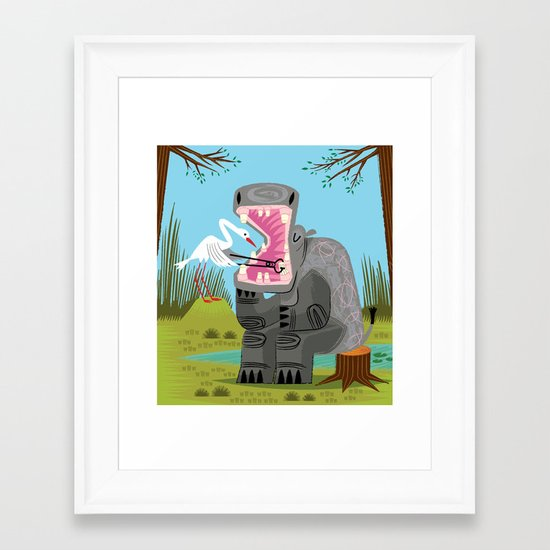 Hippopotamouth Framed Art Print