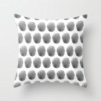 Watercolour Polkadot Bla… Throw Pillow