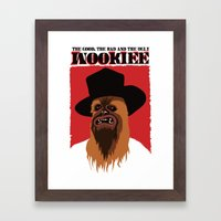The Good, The Bad and The Ugly Wookie Framed Art Print