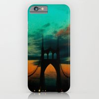 iPhone & iPod Case featuring Bridge to Portland - St. Johns - On a Warm October Evening by John Magnet Bell