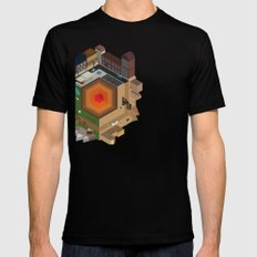 A Tiny World Mens Fitted Tee SMALL Black
