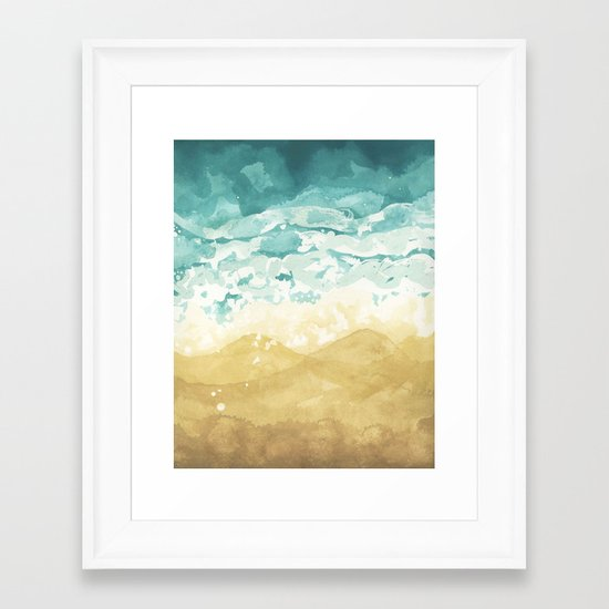 Minimalist Shore - Beach Painting Framed Art Print