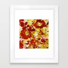 Floral In Red Framed Art Print