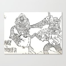 Beast Vs. Monster Canvas Print