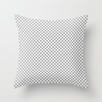 Grid 01 Throw Pillow