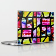Laptop & iPad Skin featuring Colorful Mosaic Window by Costa