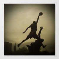 Michael Jordan Statue Chicago Canvas Print