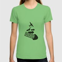 Bombing For Peace... Womens Fitted Tee Grass SMALL