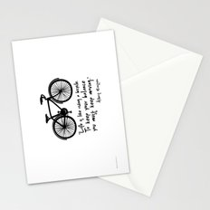 Life is like riding a bicycle... Stationery Cards