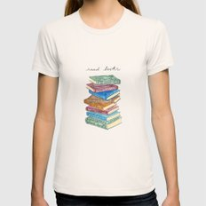 Love For Reading Womens Fitted Tee Natural SMALL