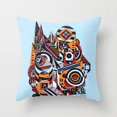 EL BARTO ~ BLUE Throw Pillow
