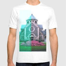 Cracked church... SMALL White Mens Fitted Tee