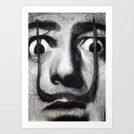 I Am Drugs ( Salvador Da… Art Print