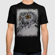 Spirit Owl Mens Fitted Tee Black SMALL