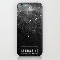 stars iPhone & iPod Cases featuring STARGAZING IS LIKE TIME TRAVEL by Amanda Mocci