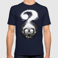 Question! Mens Fitted Tee Navy SMALL