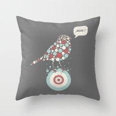 Bubble-Bird Throw Pillow