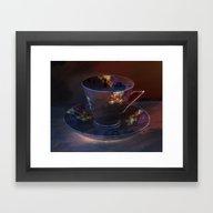 Retro Deep Purple Vintag… Framed Art Print